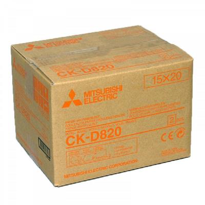 Mitsubishi-Papel 2 Rollos+2 Tintas 100x150mm CK-D820 (CP-D80DW-S/CP-D90DW-P)