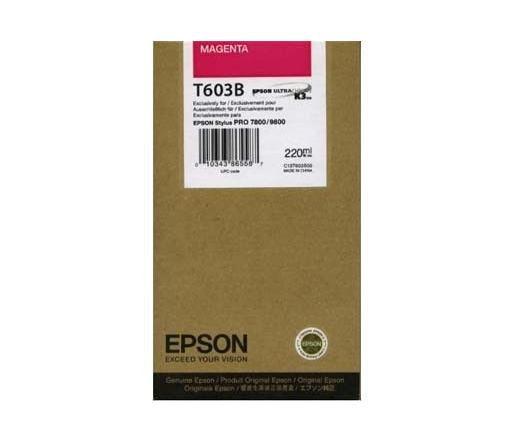 Cartucho de Tinta EPSON 220 ml- T603B Magenta (7800/9800/7880/9880)