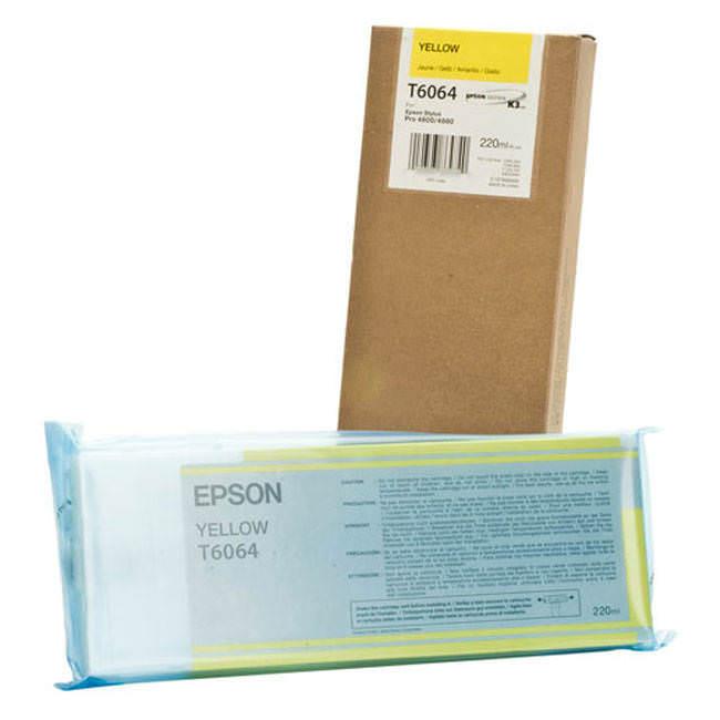 Cartucho de Tinta EPSON 220 ml- T6064 Amarillo (4800/4880)