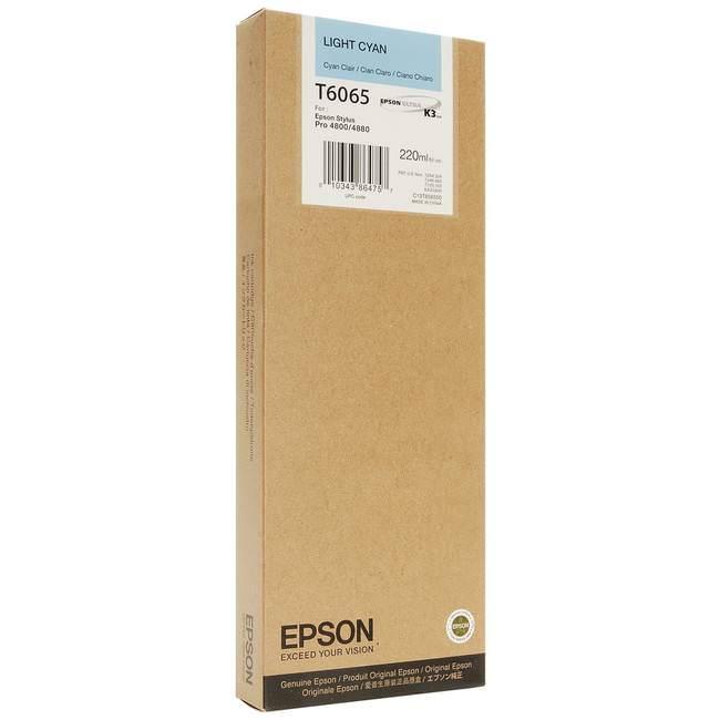 Cartucho de Tinta EPSON 220 ml- T6065 Cian Claro (4800/4880)