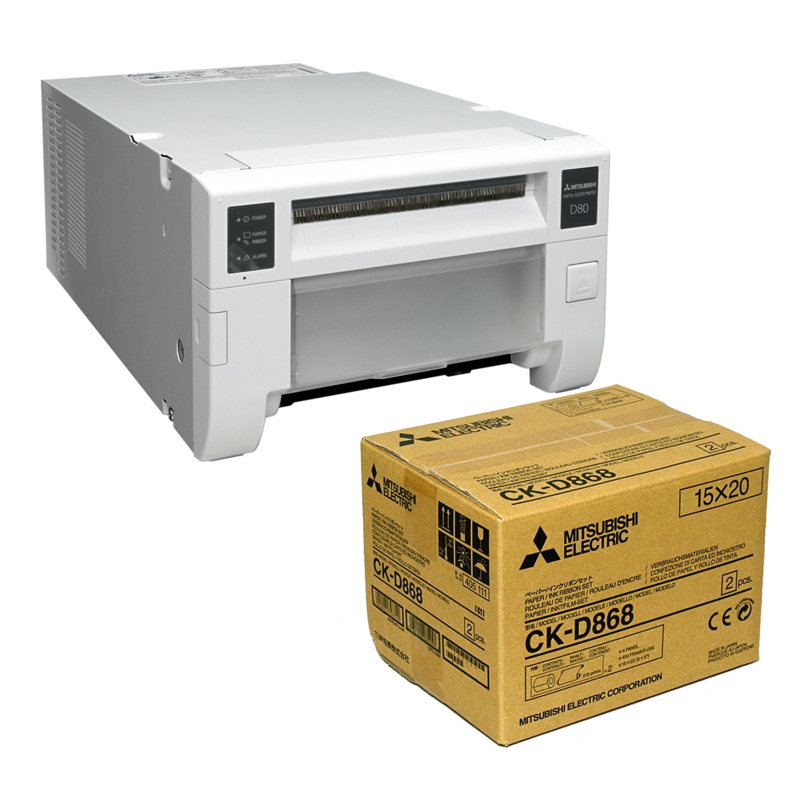 Impresora Mitsubishi CP-D80DW + Papel CK-D868 GRATIS