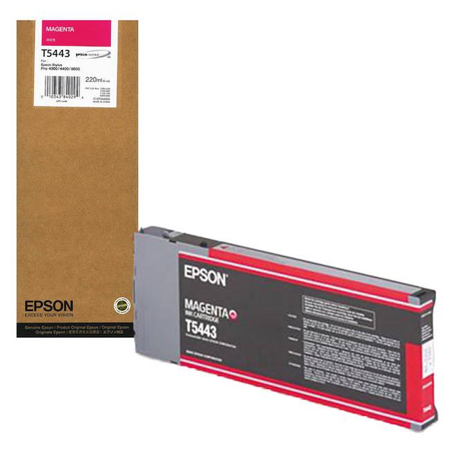 Cartucho de Tinta EPSON 220 ml- T5443 Magenta (7600/9600)
