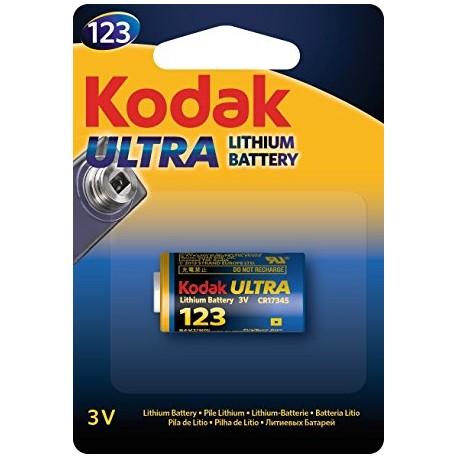 Kodak CR123A Ultra Lithium Battery 3V CR17315