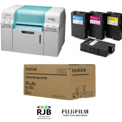 Promoción de lanzamiento Fuji Frontier DE100 con tintas y papel