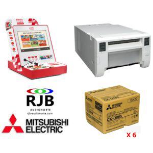 Mitsubishi Smart KioskGifts + Impresora CP-D80DW+ 6 Cajas papel CKD868 GRATIS
