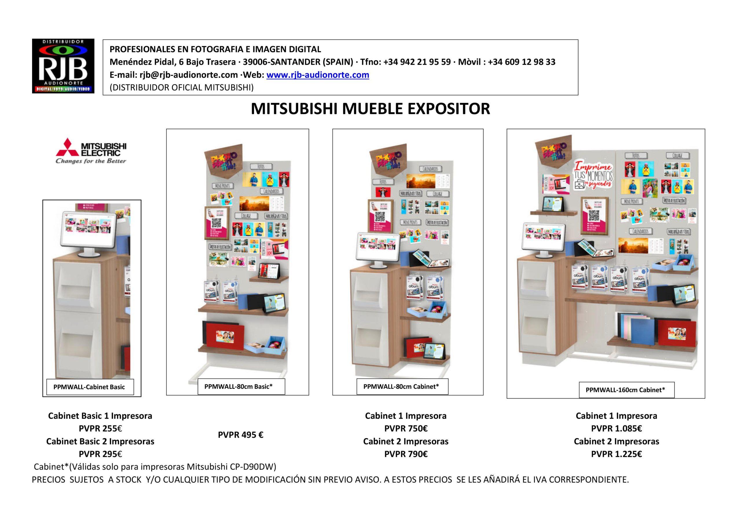 PROMOCIÓN RJB MITSUBISHI MUEBLE EXPOSITOR 4 OPCIONES 2020